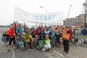 In Bremerhaven erwartet uns ein motivierter Mitfahr-Pulk an der Weserfähre..